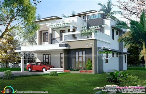 5 Bedroom Contemporary Home In 9 Cent Land  Kerala Home