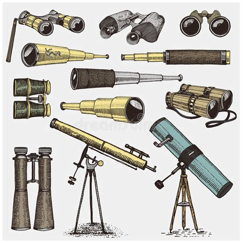 Sextant Quadrant by Set Of Astronomical Instruments Telescopes Oculars And