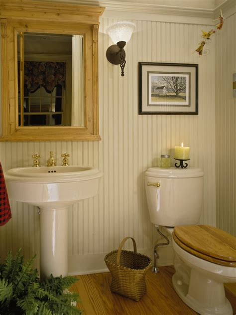 Beadboard Powder Room Design Ideas, Pictures, Remodel And