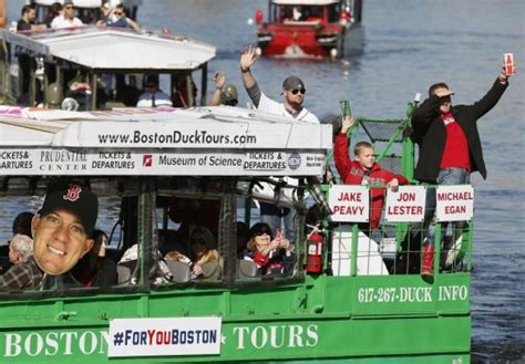 Duck Boat Red Sox Parade by Impulse Buy Sox S Peavy Buys Duck Boat Ny Daily News