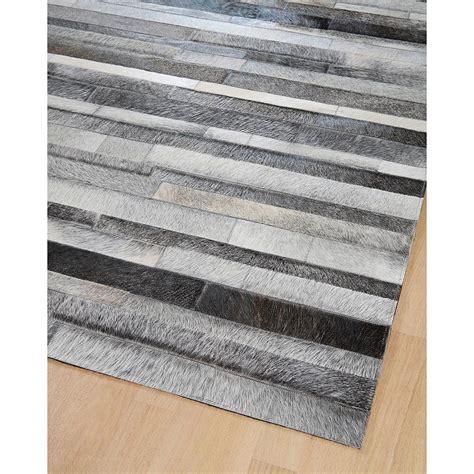 tapis en patchwork de cuir gris jacob home spirit 170x230