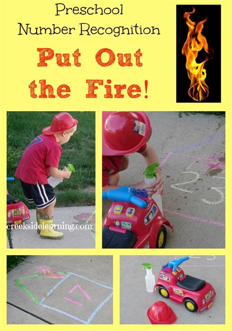 Preschool Number Recognition Game Put Out The Fire  Number Recognition