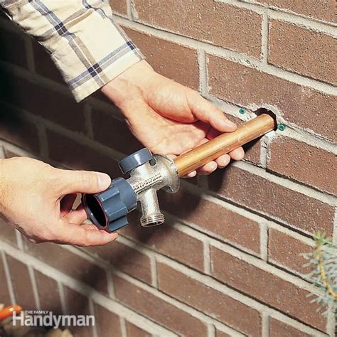 how to install a proof outdoor faucet the family
