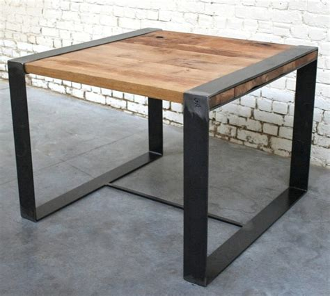 table rc t002 giani desmet meubles indus bois m 233 tal et cuir