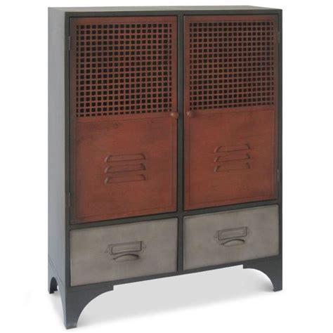 armoire en m 233 tal 2 portes battantes et 2 tiroir achat vente petit meuble rangement armoire