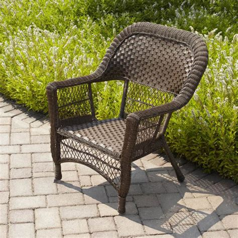 mainstays stack wicker chair honey brown walmart
