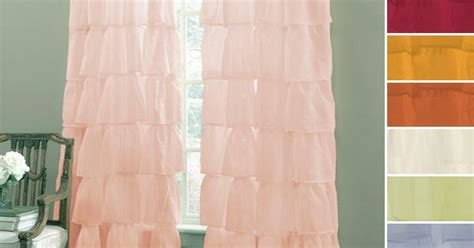 Gypsy Shabby Chic Semi Sheer Ruffled Window Curtain Panel For Master Bedroom Orange Damask Curtains Arched Windows 86 Inch Long Gingham Blackout White And Pink Polka Dot Short Bedroom Window Sliding Door Drapes Chevron Cafe