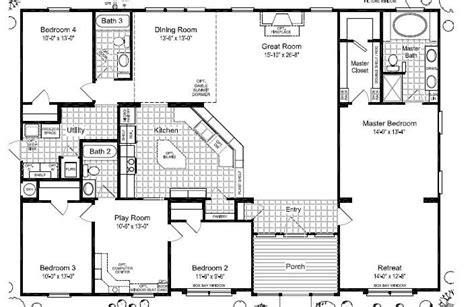 wide mobile home floor plans las brisas floorplan