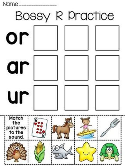 Bossy R Fun Worksheets  Pictures, In Color And Cut And Paste