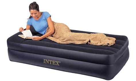 intex raised pillow rest air mattress