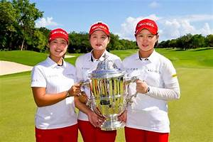 South Korean golfers cruise to victory at Women's World ...