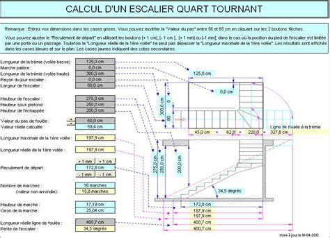 calcul d un escalier quart tournant