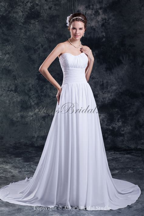 Allens Bridal  Chiffon Sweetheart Neckline Chapel Train A. Vintage Wedding Dresses In Columbus Ohio. Wedding Dresses Styles Names. Strapless Wedding Dress Push Up Bra. Winter Wedding Dresses Fur. Beautiful Beach Wedding Guest Dresses. Disney Wedding Dresses Belle 206. Tacky Celebrity Wedding Dresses. Wedding Bridesmaid Dresses Pictures