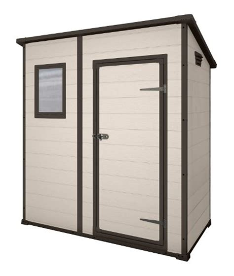 keter manor pent outdoor plastic garden storage shed 6 x 4 large beige discounted