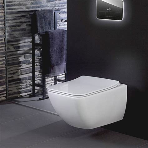 villeroy boch venticello toilet seat slimseat line with quickrelease and soft 9m80s101