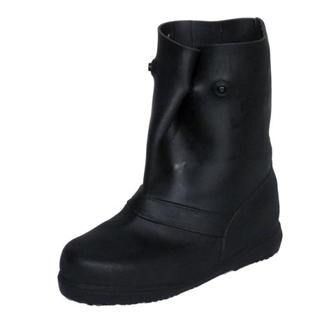 Rubber Boots Home Depot by 12 In Men Large Black Rubber Over The Shoe Boots 14852
