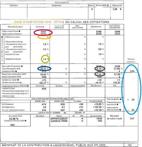 simulateur calcul taxe d habitation