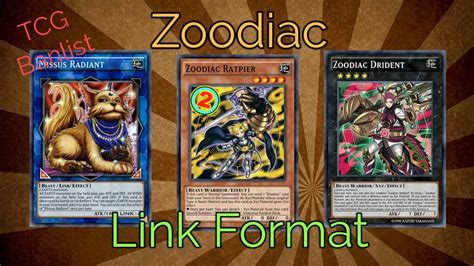 zoodiac deck link format 2017 post code of the duelist