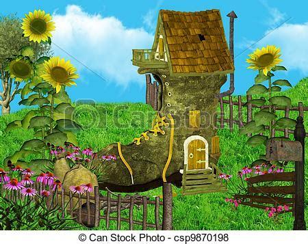 Stock Illustration Von Fantasie, Haus  Zwergen, Land