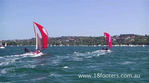 Skiff Club Double Bay by Promo 18 Foot Skiff Racing Week 9 Youtube