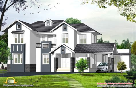 House Style : English Style Home-sq. Ft.-kerala Home Design And