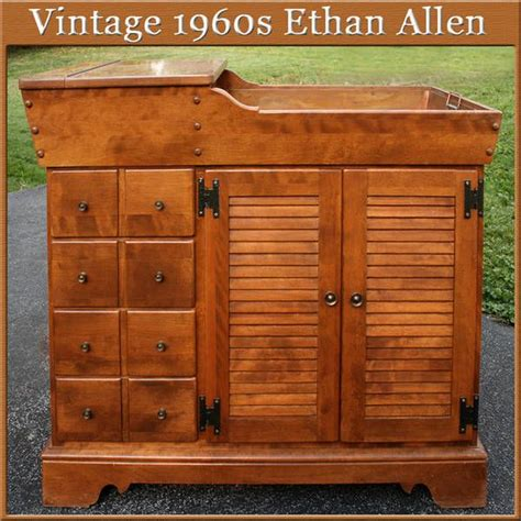 ethan allen furniture maple 1960 s 1960s ethan allen traditional early american sink