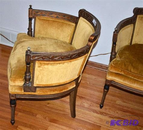 two matching vintage statesville chair co nbs