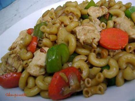 recette de macaroni chinois au poulet et au gingembre