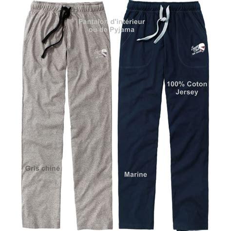pantalon d int 233 rieur relax ou de pyjama taille 233 lastiqu 233 e coton jersey
