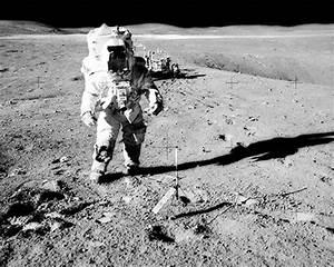 Apollo 16 Commander John Young Spacewalk Photo Print for Sale