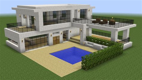 Minecraft  How To Build A Modern House 5 Funnycattv