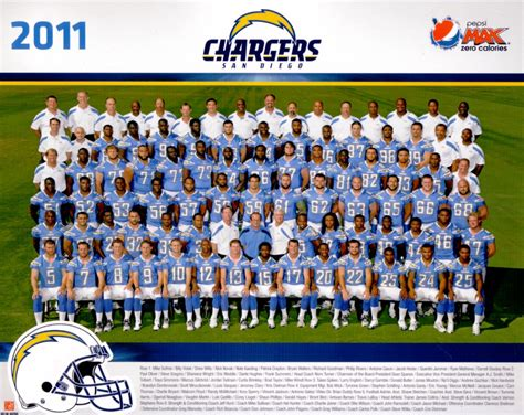 2011 San Diego Chargers 8x10 Team Photo (ryan Mathews