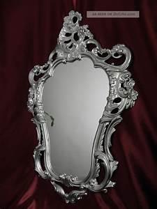 Wandspiegel Antik Silber : exklusiver wandspiegel repro antik barock spiegel silber 50x76 wanddeko 118 3 ~ Whattoseeinmadrid.com Haus und Dekorationen