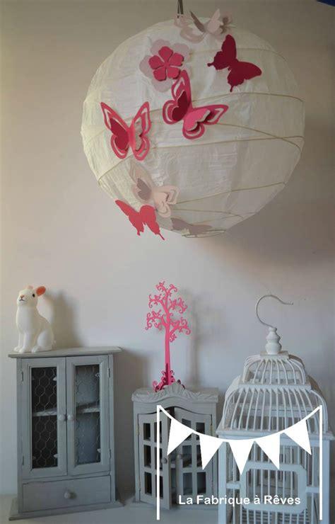 luminaire suspension abat jour papillons fleurs fuchsia poudr 233 d 233 coration chambre