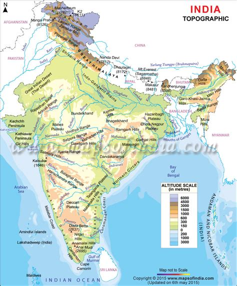 Slope Meaning In Tamil by Topographic Map Of India