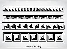 Griego clave negro frontera establece vector Descargue