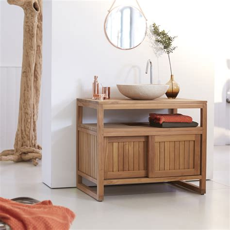 meuble en teck meubles pour salle de bain colonial tikamoon