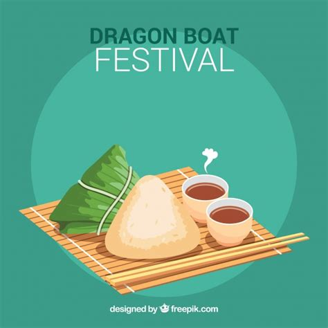 Dragon Boat Festival Vector by Traditional Dragon Boat Festival Meal Background Vector