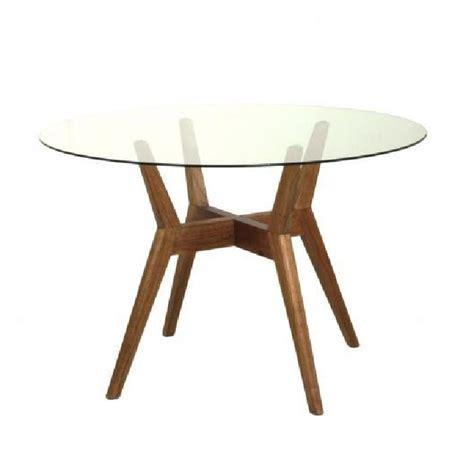 table ronde en verre et bois la maison cassette achat vente table a manger seule table ronde