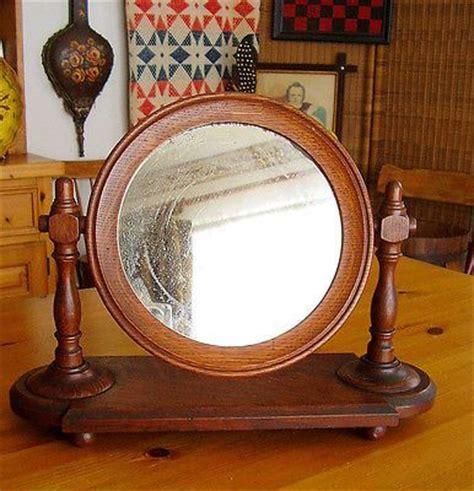antique tilting dresser mirror tiger oak wood