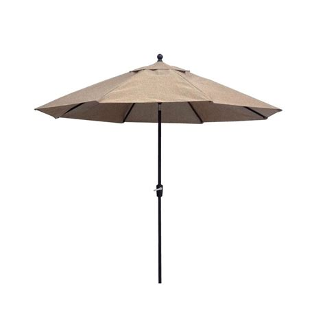 hton bay patio umbrella hton bay 7 1 2 ft steel push up patio umbrella in geo chili uts00203e gc