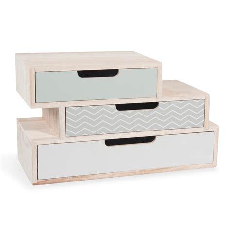 bo 238 te 3 tiroirs en bois l 30 cm nolita maisons du monde