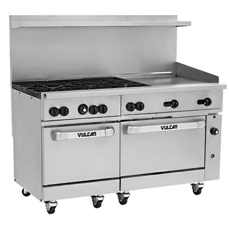 vulcan 60ss 6b24g 60 quot gas range 2 ovens 6 burners 24 quot griddle prima supply
