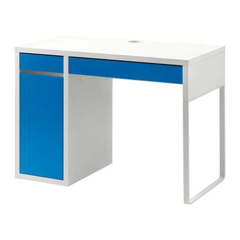 micke bureau blanc bleu ikea