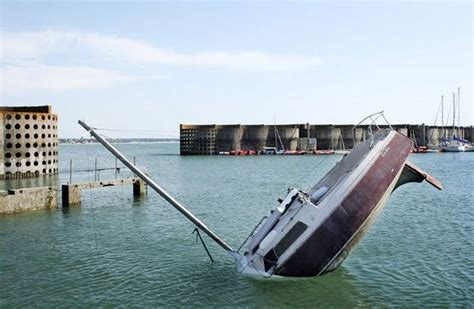 Dream Of Your Boat Sinking by The Fantastic Sinking Boat By Julien Berthier Amusing Planet