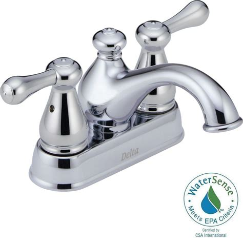 delta leland 4 in centerset 2 handle low arc bathroom faucet in chrome 2578lf mpu the home depot