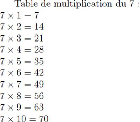 table de multiplication de 7 hotelfrance24