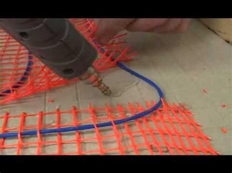 suntouch mats floor and mortar technique