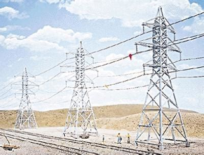 high voltage transmission tower 4 kit ho scale model railroad trackside accessory 3121 by