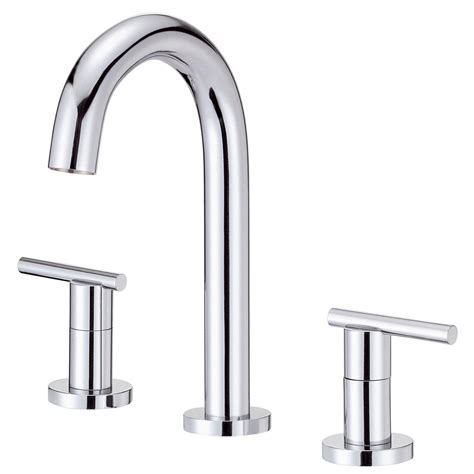 shop danze parma chrome 2 handle 4 in mini widespread watersense bathroom faucet drain included